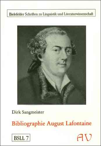 Sangmeister, Dirk: Bibliographie August Lafontaine